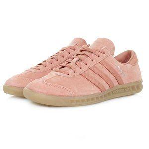 Adidas Originals Raw Pink Suede Hamburg Sneakers 7
